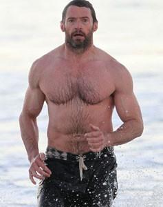 Hugh Jackman al mare