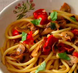 spaghetti champignon light
