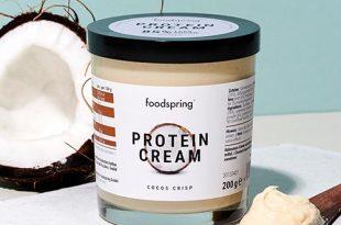 crema proteica al cocco